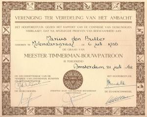 diploma Meester Timmerman
